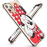 """Logee TPU Minnie Mouse Cute Cartoon Clear Case for iPhone 11 Pro Max 6.5"""",Fun Kawaii Animal Protective Shockproof Cover,Ultra-Thin Unique Funny Character Cases for Kids Teens Girls(iPhone 11 Pro Max)"""