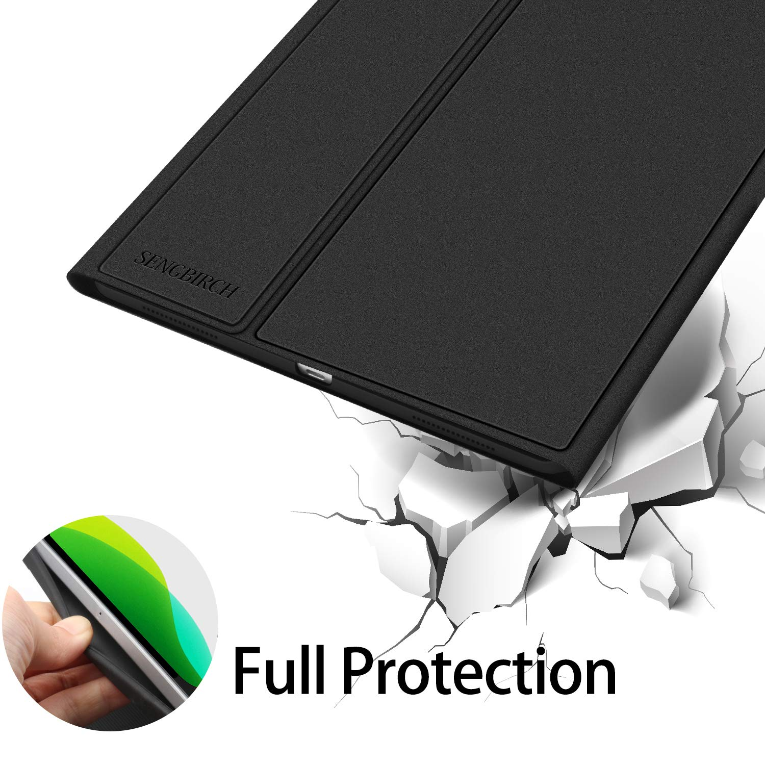 iPad Keyboard Case for iPad 10.2 2019-7th Generation iPad - iPad Pro 10.5(Air 3) - 7 Colors Backlight, Magnetically Detachable Wireless Keyboard - Folio Cover for New iPad 10.2\