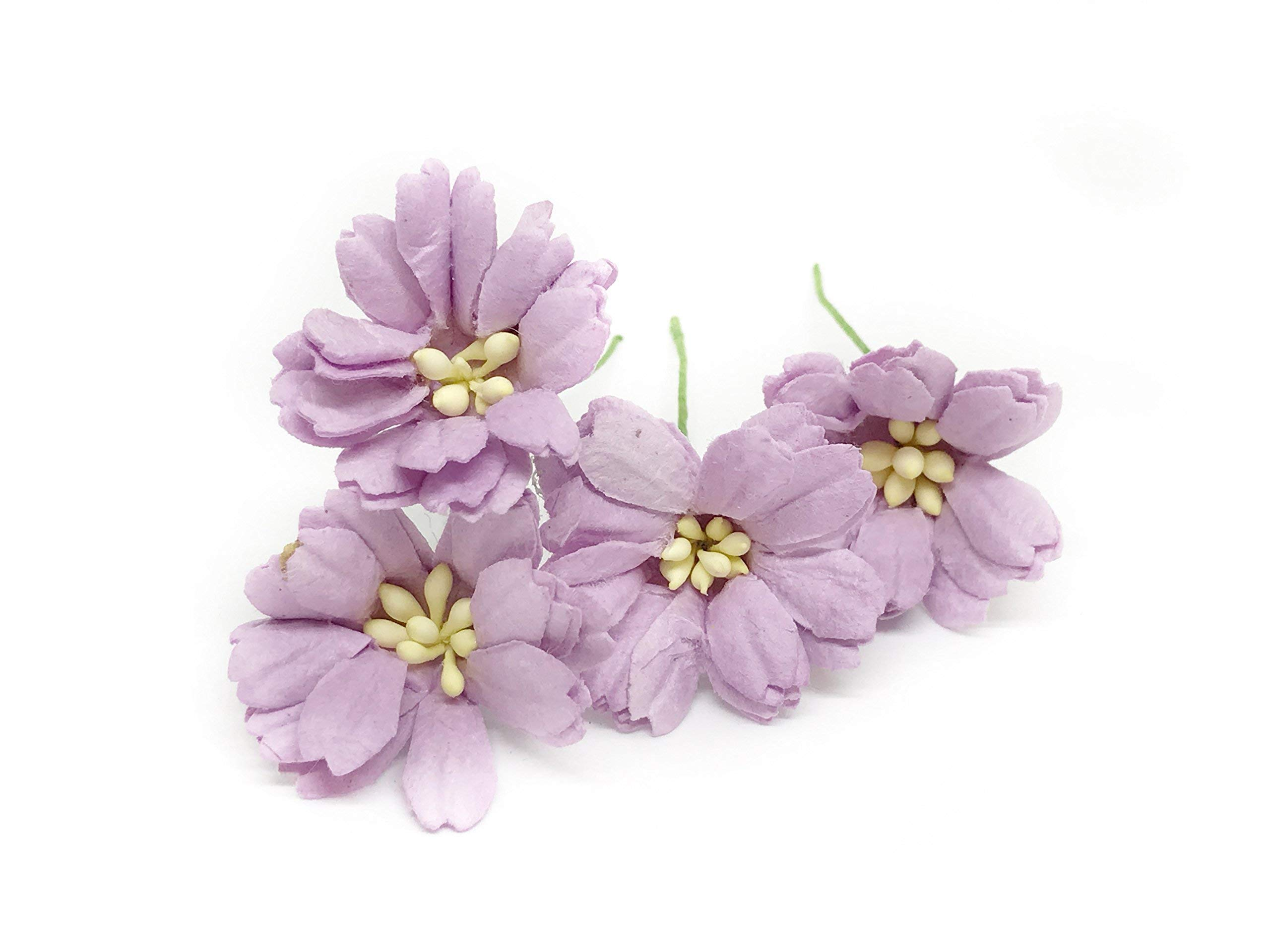 15-Lilac-Purple-Paper-Daisies-Mulberry-Paper-Flowers-Miniature-Flowers-Wedding-Decor-Flowers-Artificial-Flowers-Craft-Flowers-25-Pieces
