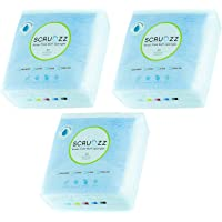 Scrubzz Disposable No Rinse Bathing Wipes - All-in-1 Single Use Shower Wipes, Simply Dampen, Lather, and Dry Without…