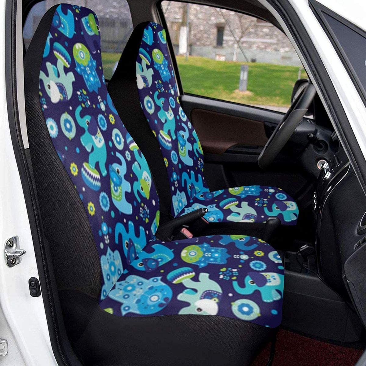 PFENK Car Seat Covers Bears Pattern Protector Cushion Premium Cover for Women Men Girls Boys Fits Most Cars Truck SUV Van