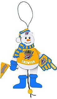 NBA Wooden Cheering Snowman Ornament