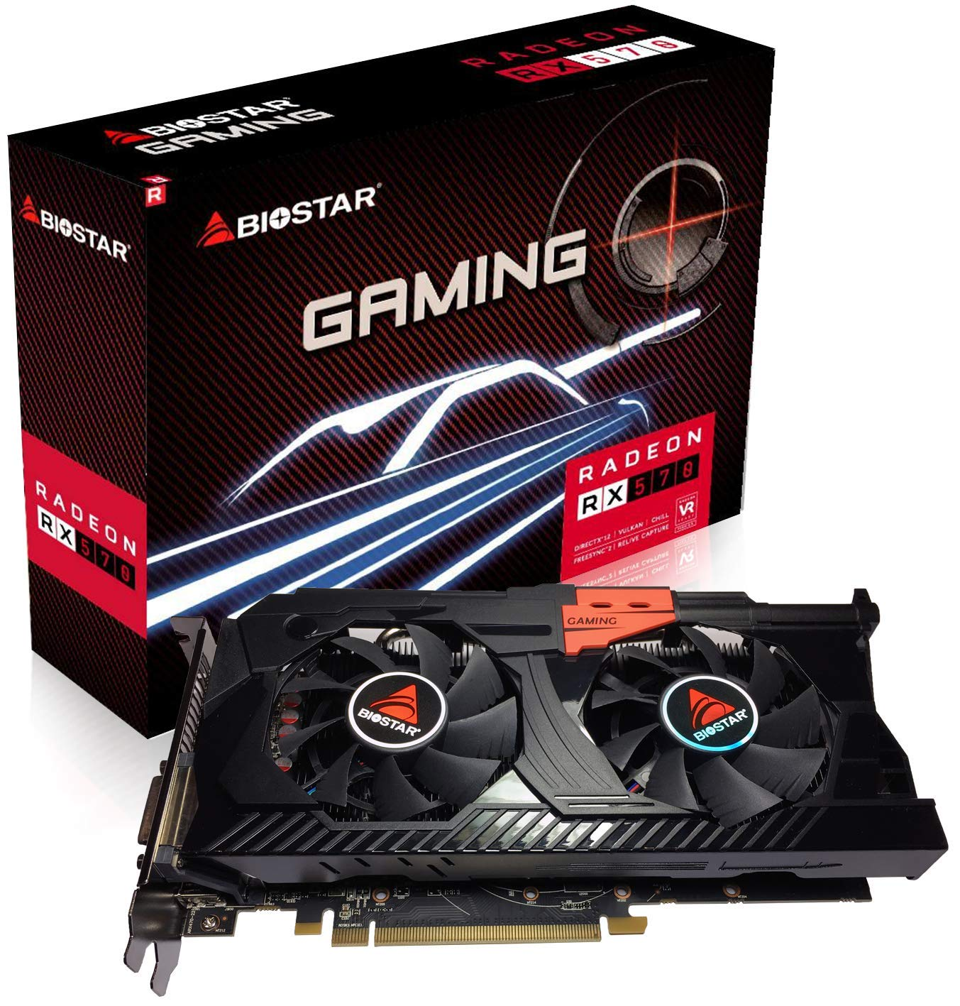 Amazon.com: Biostar OC Gaming Radeon RX 570 8GB GDDR5 256 ...