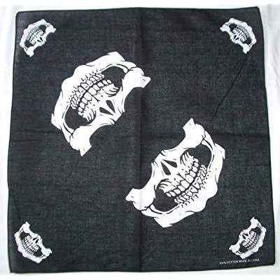 Skull Jaw Bone Bandana Head Wrap Face Mask Neckerchief Scarf: Toys & Games