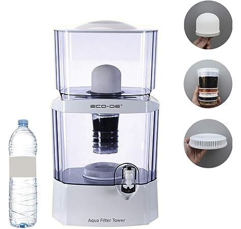 Dispensador de agua Aqua Tower Plus, con depósito de filtrado Filter Tower, Filtros recambio (Aqua Tower Plus + Filter Tower): Amazon.es: Hogar