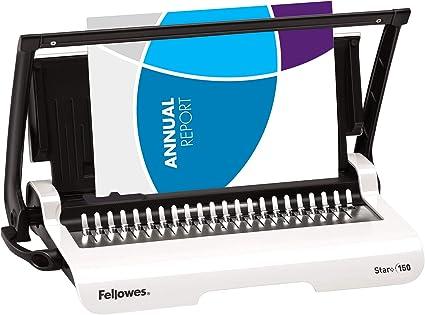 SEHR GUT Bindegeräte Bindermaschine Fellowes Bürobedarf Home Office schwarz grau
