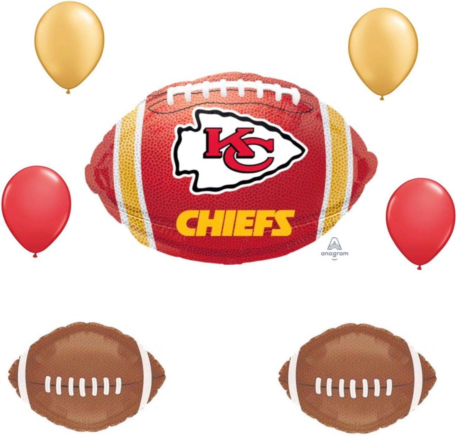 Amazon.com: Kansas City Chiefs 7 piezas globo ramo de fútbol ...