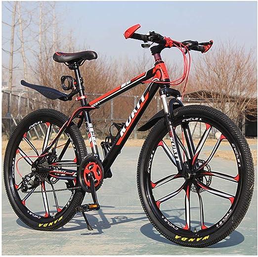 QIMENG Bicicleta De Montaña MTB 24 Pulgadas,Cuadro De Acero De ...