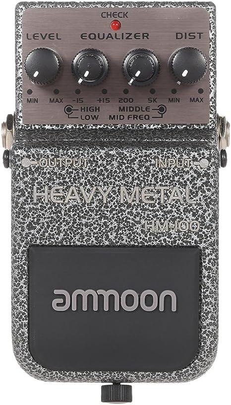 ammoon Pedal HM-100 Heavy Metal Effect Efectos para Guitarra ...