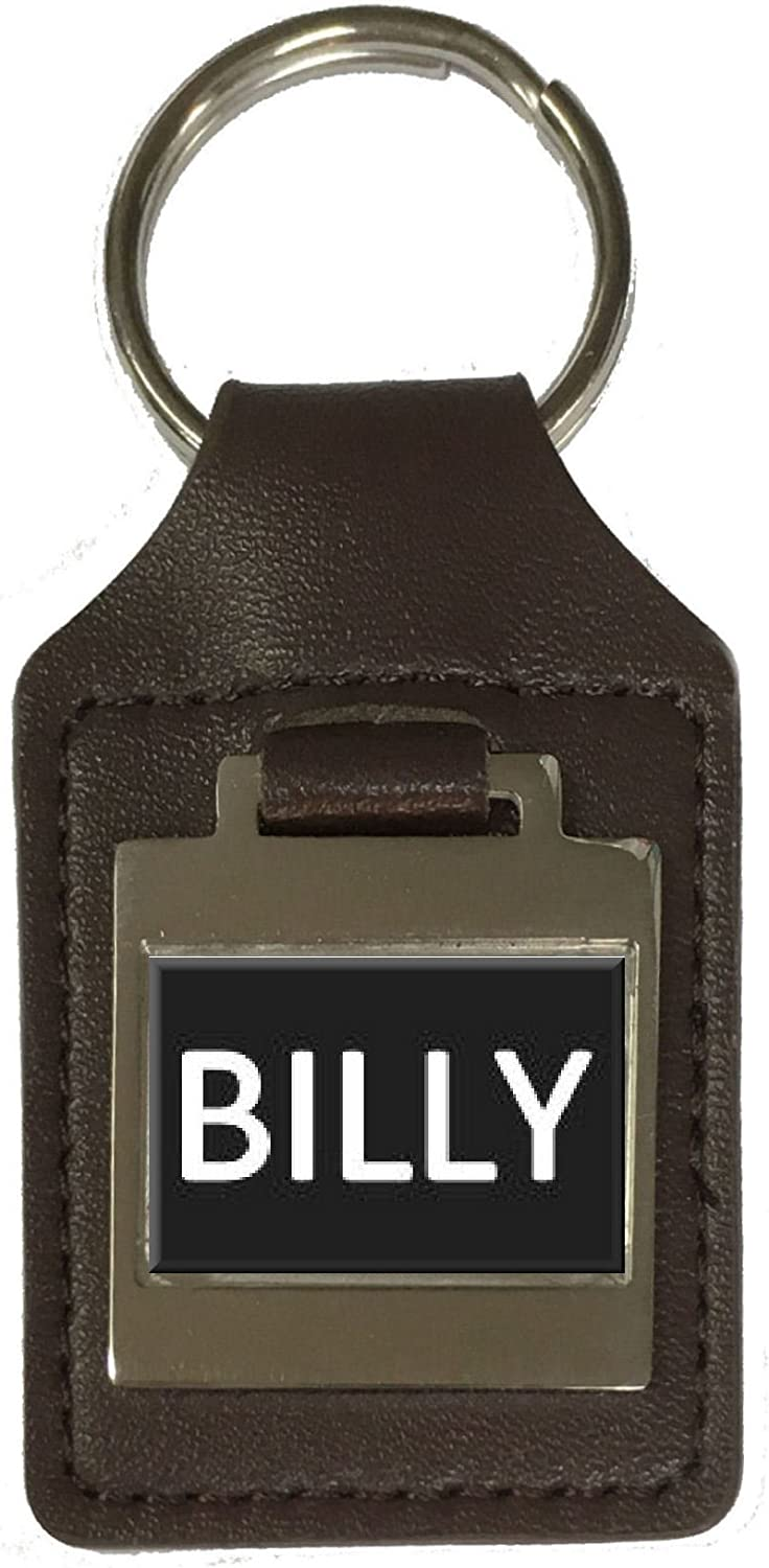 Billy Leather Keyring Birthday Name Optional Engraving