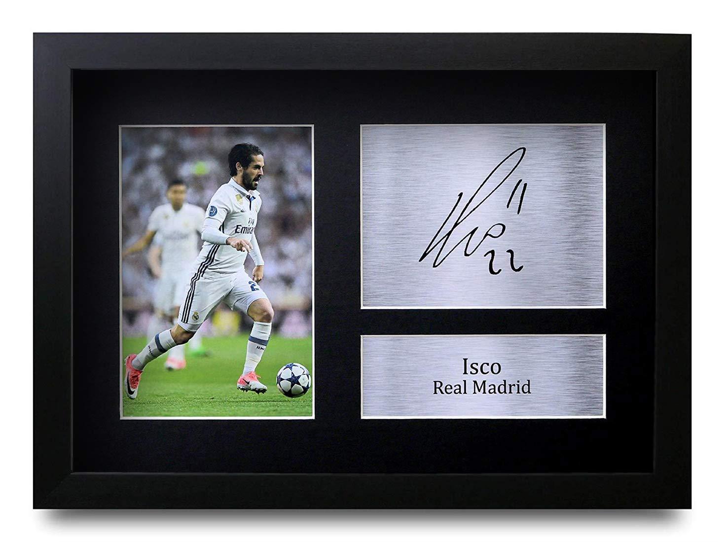 HWC Trading Zinedine Zidane A4 Incorniciato Firmato Regalo Visualizzazione delle Foto Print Immagine Autografo Stampato per Real Madrid Tifosi di Calcio