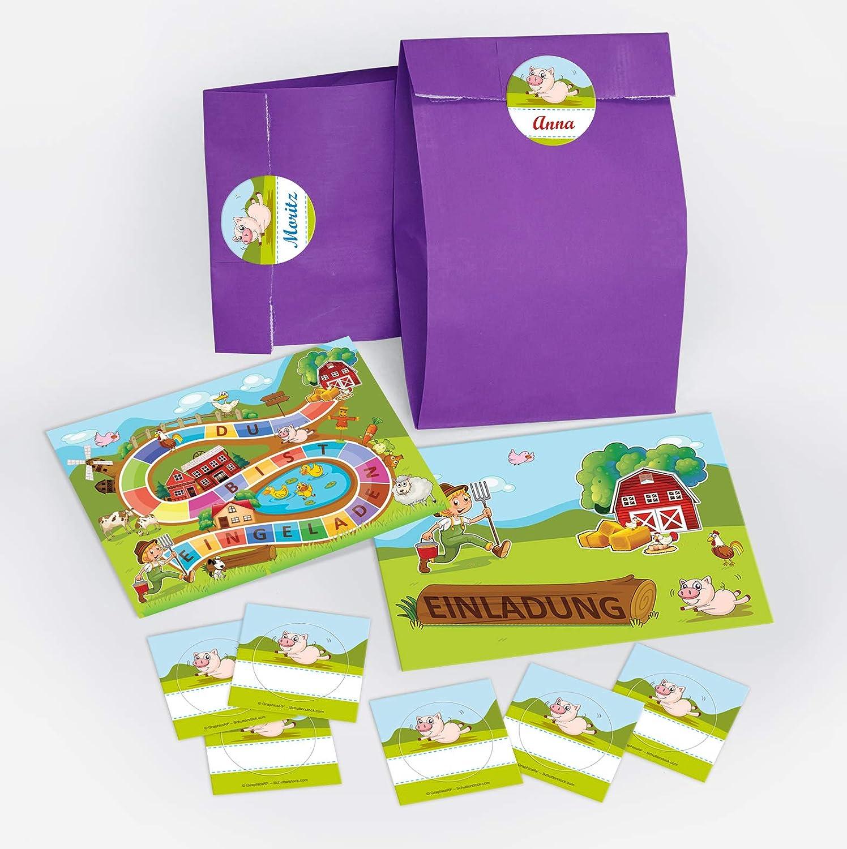 12 Einladungskarten Zum Kindergeburtstag Bauernhof Party
