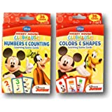 Mickey Mouse Clubhouse Learning Card Games Bundle - Numbers + Counting & Colors + Shapes
