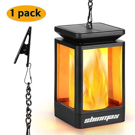 Shinmax Solar Hanging Lantern Au/ßen Outdoor Solar Mission Lantern Solarbetriebene und wasserdichte H/ängeschirm Laterne Tanzen Flamme Kerzenlichter Dekorativ f/ür Garten Auto On//Off(2 pack)