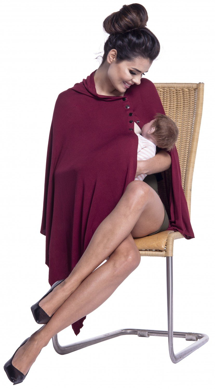 Zeta Ville - Women's Maternity Poncho Shawl Breastfeeding Top Pregnancy - 967c ONE SIZE - FITS ALL) nursing_shawl_967_6