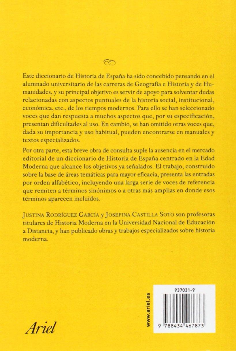 Diccionario de términos de Historia de España. Edad Moderna Ariel ...