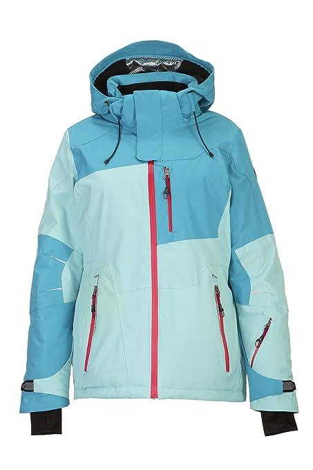 Killtec Luira Chaqueta de esquí Funcional con Capucha Desmontable y protección contra la Nieve, Mujer