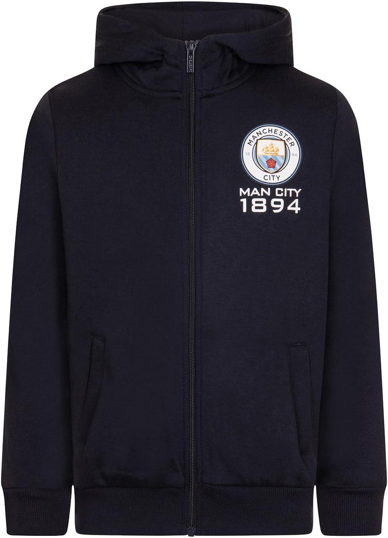 Manchester City FC officiel Pull zippé à capuche thème football polaire garçon