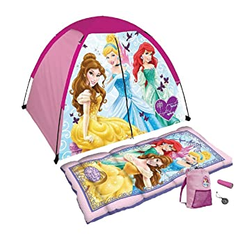 Disney Princess 5 Piece C& Kit with Sleeping Bag and Tent by Excel  sc 1 st  Amazon.com & Amazon.com: Disney Princess 5 Piece Camp Kit with Sleeping Bag and ...