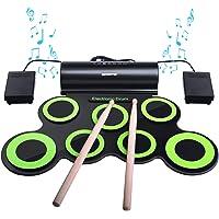 Batería Electrónica, Drum Set, bonrob Roll Up de batería Midi Drum Kit con auriculares y altavoces integrados Drum…