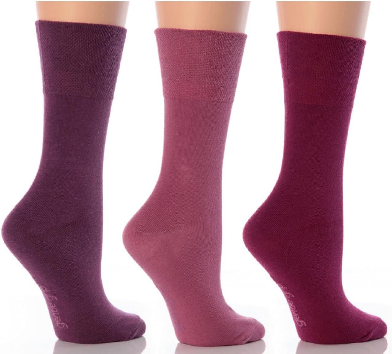 6 Pairs Womens Sockshop Cotton Gentle grip socks 4-8 uk 37-42 eu Argyles