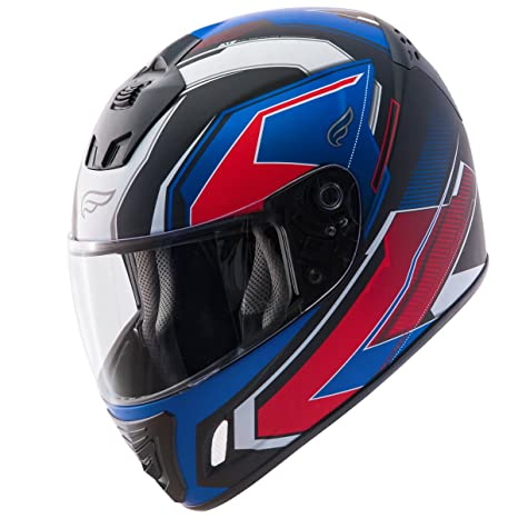 edaee52d Amazon.com: Fulmer, N4076T23, Adult N4 Tech 9 Full Face Street Motorcycle  Helmet - Red/White/Blue, M: Automotive