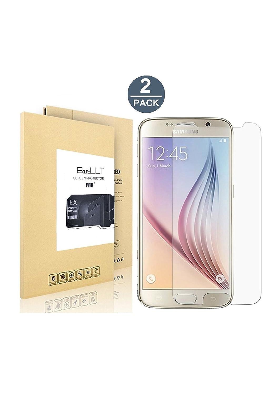 EasyULT [2 Pack] Samsung Galaxy S6 protector de pantalla,Protector de pantalla de vidrio templado para Samsung Galaxy S6(Transparente,Dureza de Grado 9H, ...