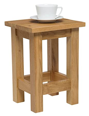 Bon Waverly Oak Small Side Coffee Table In Light Oak Finish | Solid Wooden Slim  Occasional/