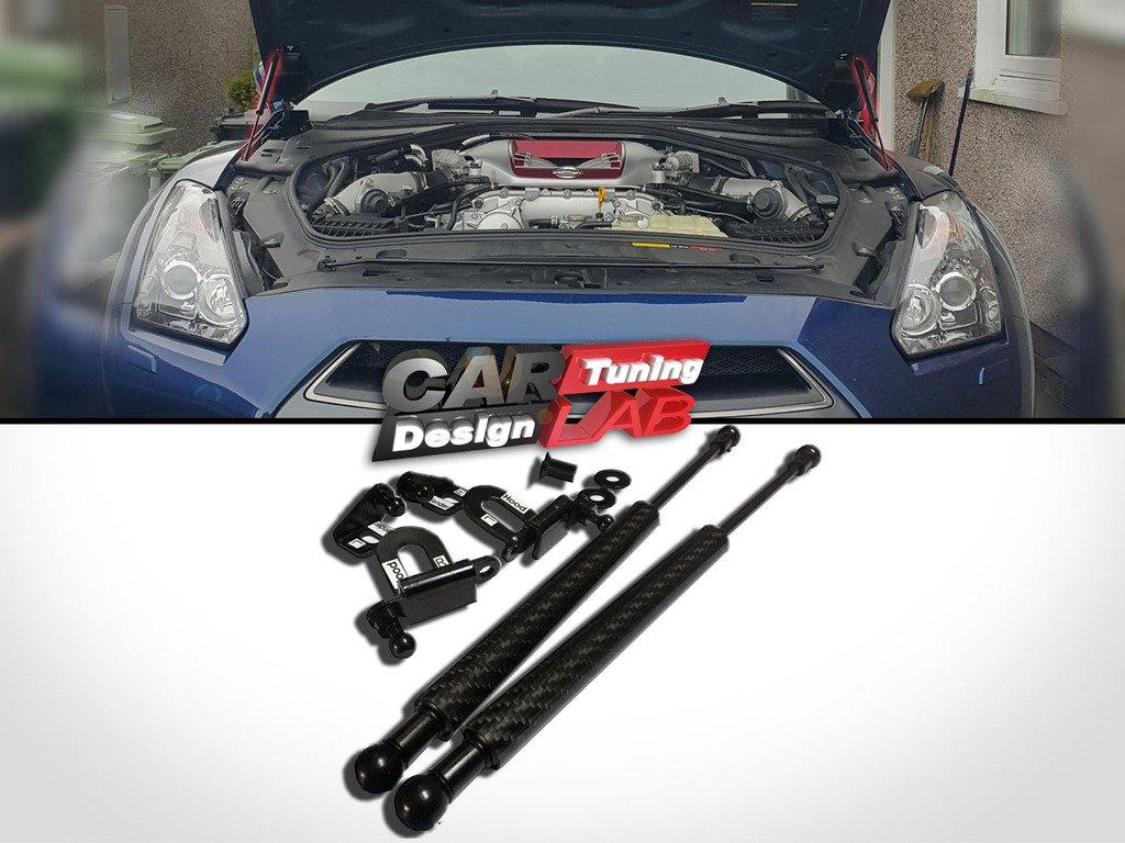 Carbon Strut Gas Lift Hood Shock Damper Kit for GT-R GTR R35 Skyline CarLab