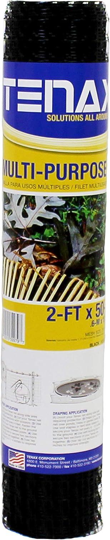 Tenax 60041909 Muti-Purpose Multipurpose Net, 2' x 50', Black