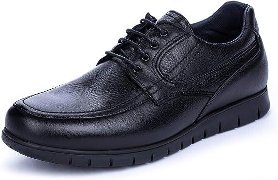 DCalderoni Moncayo Zapatos Piel Negros De Vestir con Cordones para Hombre 49 EU