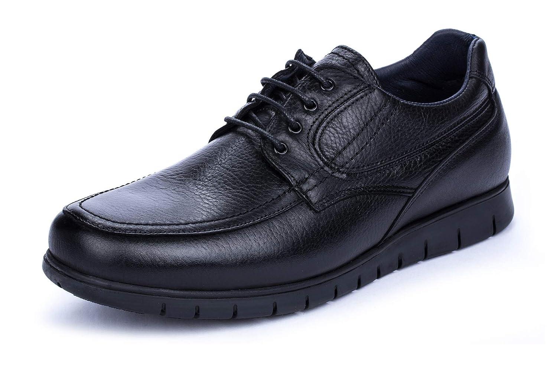 TALLA 49 EU. DCalderoni Moncayo Zapatos Piel Negros De Vestir con Cordones para Hombre 40-50 EU