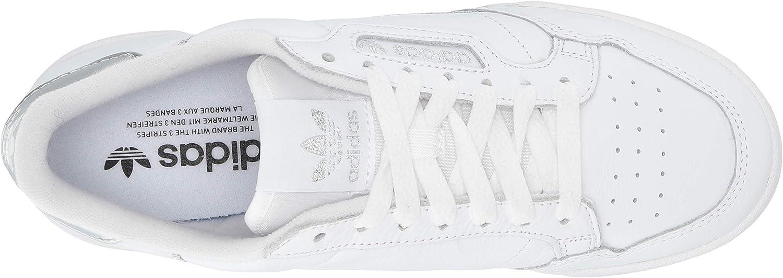 adidas Originals Damen Continental 80 Turnschuh Weiß Silber