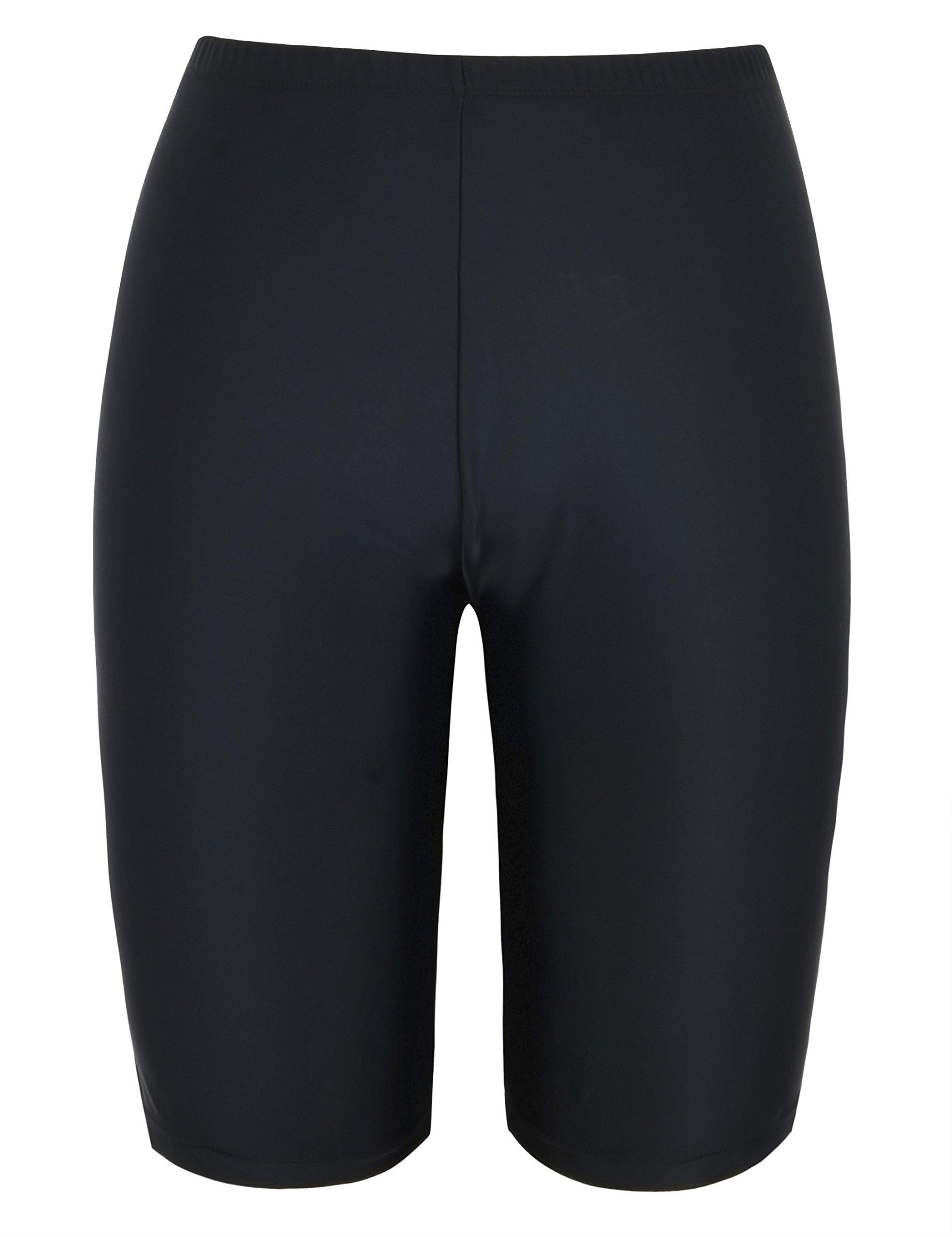 Firpearl Women's UPF50+ Sport Board Shorts Swimsuit Bottom Capris US16 Black