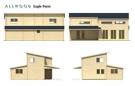 Amazon.com : Allwood Eagle Point | 1108 SQF Kit Cabin : Garden U0026 Outdoor