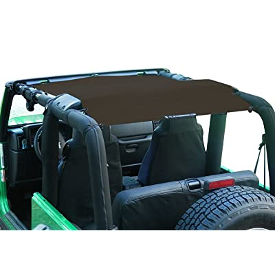 Alien Sunshade Jeep Wrangler Sunshade - Jeep TJ Sunshade (96-05) & Jeep YJ (87-95) Jeep Mesh Top (Chocolate): Automotive
