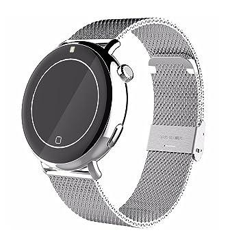 C7 Sport Bluetooth Reloj Inteligente Podómetro A Prueba De Agua De Natación Dispositivo De La Frecuencia Cardíaca Smartwatch para Hombres Mujeres,Silver: ...