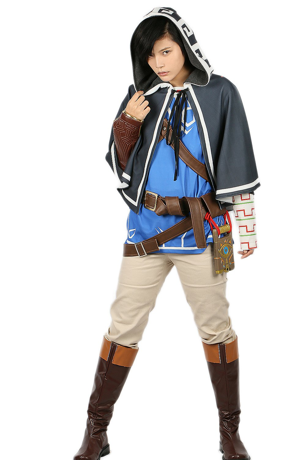 xcoser Link Costume Cloak & Tunic & Shirt & Pants & Belt Outfit For Halloween S