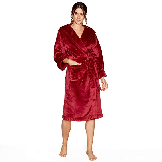 J by Jasper Conran Womens Red Hooded Dressing Gown: J by Jasper ...