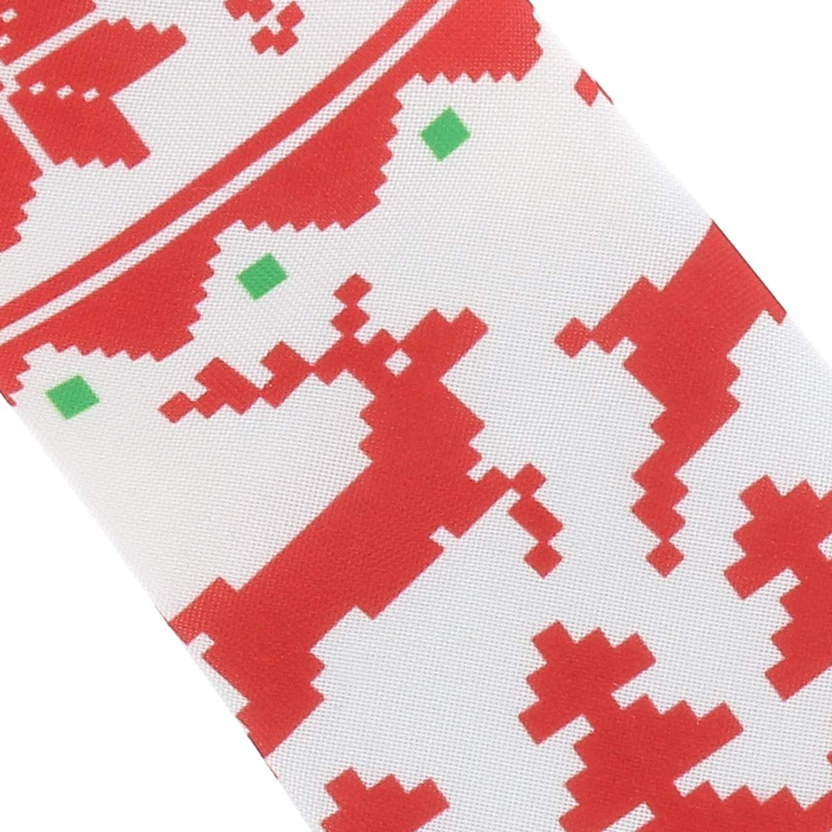 Gr/ün und Wei/ß Krawatte SHIPITNOW Weihnachten Krawatte Jacquard Rot Weihnachten Rentier Schneeflocke und Tannenbaum Krawatte
