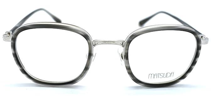 Amazon.com: Matsuda M3055 con anteojos gris plata brillante ...