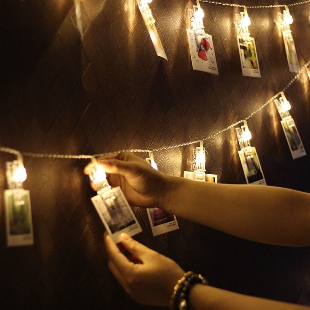 LED String Light with Clothespins, Clip, for Hanging Pictures, Photos, Artworks and More.. by gogomall (Image #2)