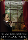 The Adventures and Memoirs of Sherlock Holmes - books 1 and 2 (illustrated) (English Edition)