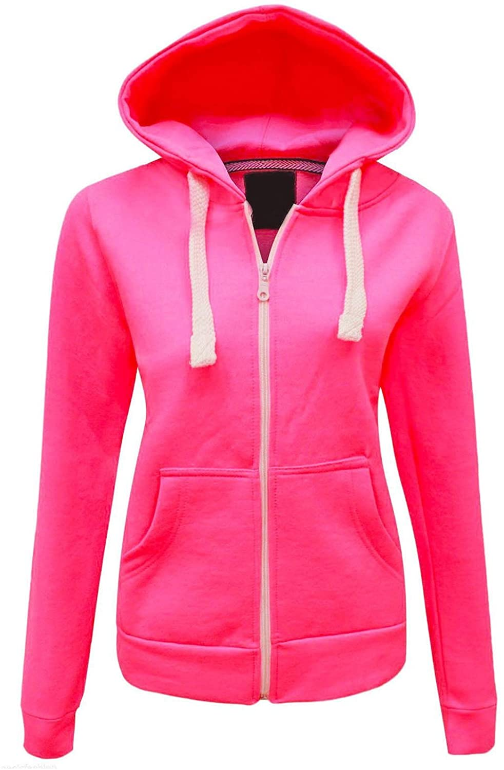 Elasticated Waist Front Zip Up Hooded