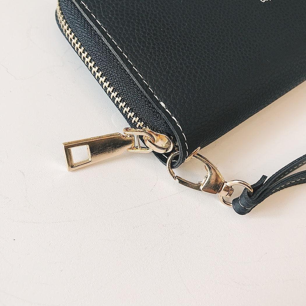 Zouvo Women Fashion Solid Deer Square Shape Long Zipper Clutch Purse Handbag Wallets