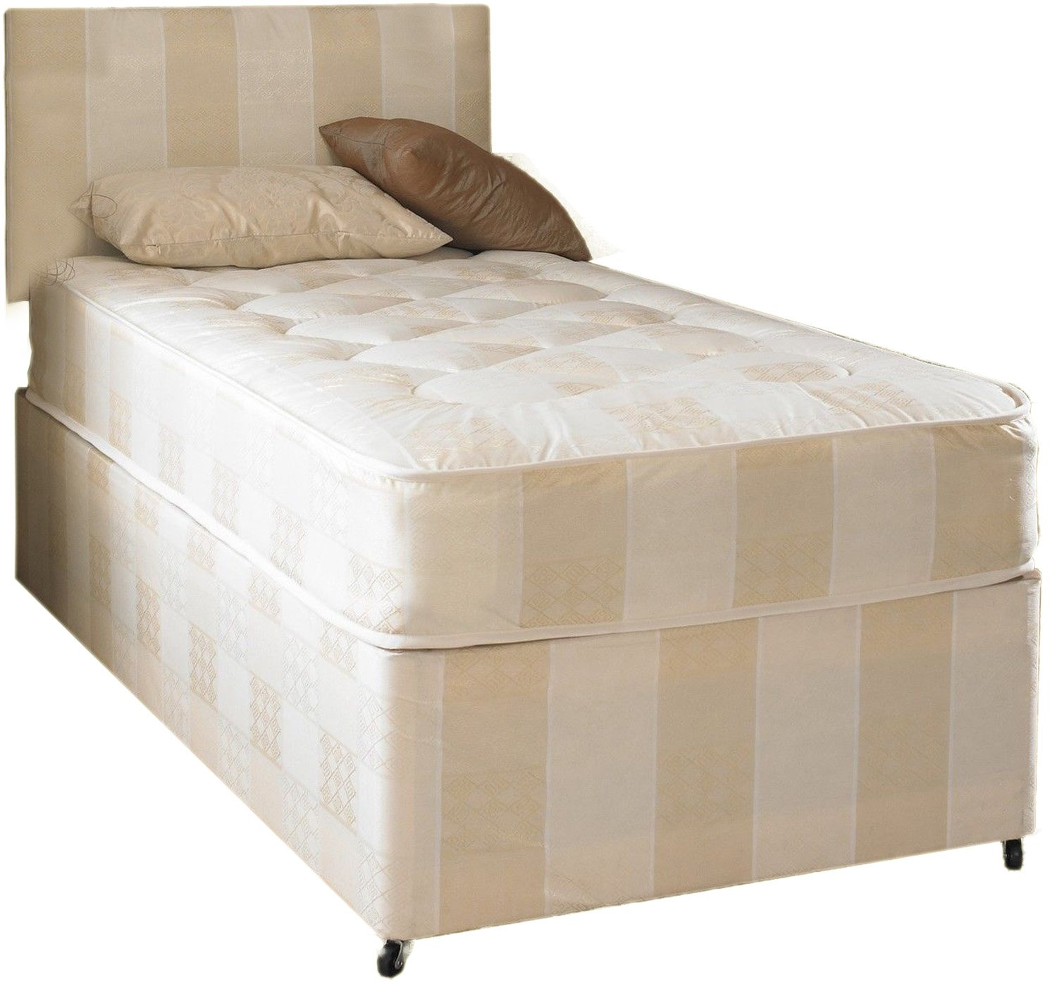 Deep Quilt Divan Bed With Slider Storage Including Deep Quilt Mattress And Headboard (Available in 2'6 Small Single - 3'0 Single) (3x6'3 Single) In2Bed LTD