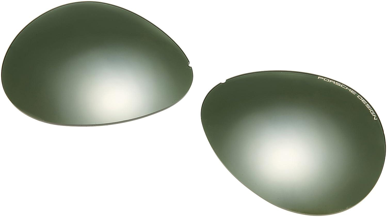 8950b78a844 Amazon.com  Porsche Designs Sunglasses P8478 B Titanium Gray Gradient with  Silver Mirror Green 69 10 135  Porsche  Clothing