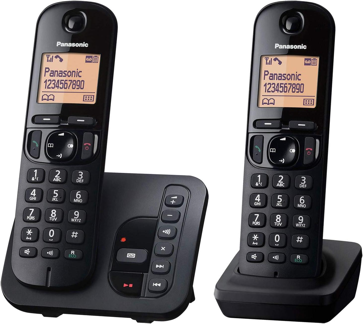 Panasonic KX-TGC222GB - Teléfono (Teléfono DECT, Altavoz, 50 entradas, Identificador de Llamadas, Negro) [versión importada]: Panasonic: Amazon.es: Electrónica