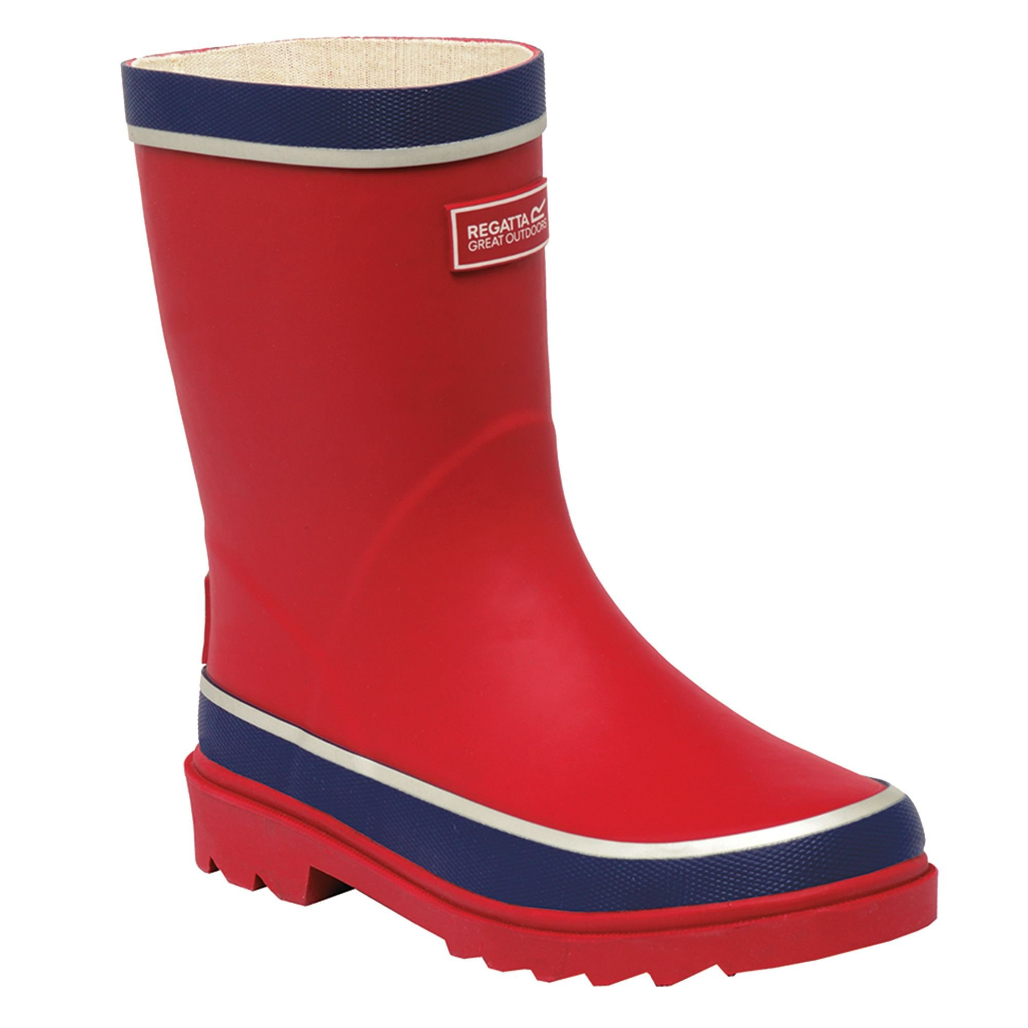 Regatta Great Outdoors Childrens/Kids Foxfire Wellington Boots (US Child 11) (Lime Punch/Navy)