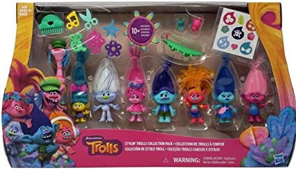 DreamWorks Stylin/' Trolls Hasbro Collection Pack with 10 Accessories
